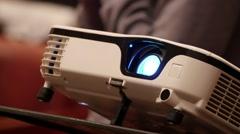 Digital Film Projector Lens Stock Footage
