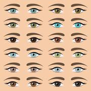 Eyes collection Stock Illustration