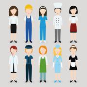 Stock Illustration of women profession