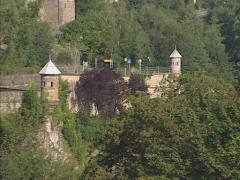 LUXEMBOURG fortifications - Spanish turrets, dating from the Spanish occupation Stock Footage