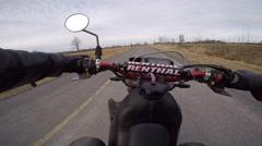 Drz400 quick wheelie chest mount camera Stock Footage