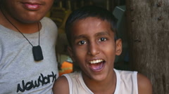 Portrait of cheerful Indian boy. Stock Footage