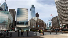 4K UltraHd Street view outside of City Hall in Philadelphia Stock Footage