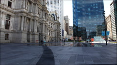 4K UltraHd The fountains outside of City Hall, Philadelphia Stock Footage