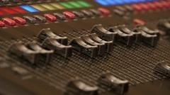 Professional Digital Audio Mixer Stock Footage