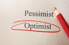 Optimism circle - stock photo