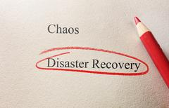 Disaster Recovery - stock photo