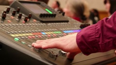 Professional Mixing Desk Sound Mastering - stock footage