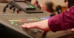 Professional Mixing Desk Sound Mastering 4k - stock footage