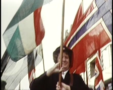 SALVATION ARMY MARCHING IN MELBOURNE STREET (1981) - stock footage