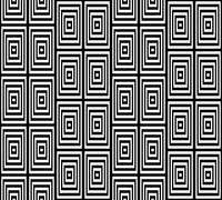 Abstract Square Bases Black and White Seamless Pattern, Vector I Stock Illustration