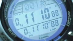 The wristwatch automatic work process, numerals grow. Close up macro view - stock footage