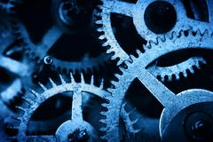 Grunge gear, cog wheels background. Industrial science, clockwork, technology - stock photo