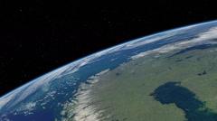 Orbital flyover of Scandinavia - stock footage