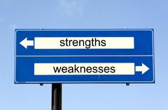 Swot analysis strenghts and weaknesses Stock Photos
