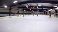 Helmet cam hockey team getting scored against Stock Footage