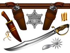 Set of ancient weapons Stock Illustration