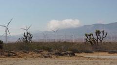 Desert Wind Turbines 06 - stock footage
