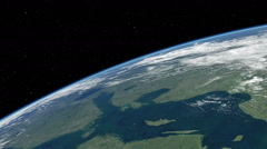 Orbital flyover of the Baltic and North Seas  Stock Footage