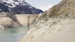 Tignes Dam - PAN Stock Footage