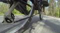 Spring walk of cyclist. POV clip in spring day Footage