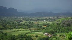 Vinales town in cuba panorame of villaege Stock Footage