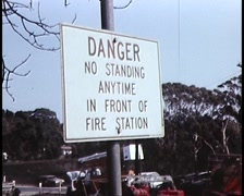 DESTROYED FIRE STATION (1982) Archival Footage, Ash Wed Bushfires Stock Footage