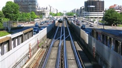 Metro, Paris Stock Footage