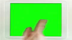 Using Tablet Pc With Green Screen - stock footage