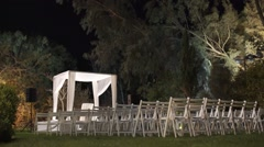 The Jewish Wedding Canopy (Huppah) in Israel - stock footage