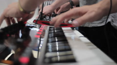 Synthesiser music producer Stock Footage