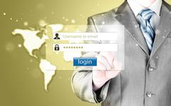 login and password - stock illustration