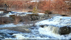 Waterfalls in Early Spring Stock Footage