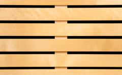brown wooden slats - stock photo