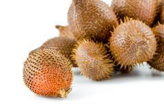 Sweet zalacca fruit on white background Stock Photos