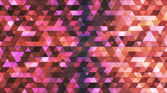 Broadcast Twinkling Polygon Hi-Tech Triangles, Multi Color, Abstract, Loop, HD Stock Footage
