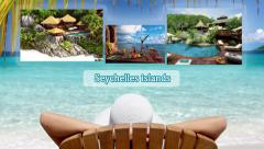 Vacation Destinations advertising travel agencies - stock footage