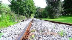 Railroad tracks Slide Right 1 Stock Footage