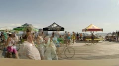 Timelapse Long Beach Boardwalk Stock Footage