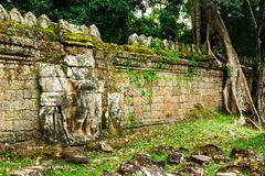 Preah Khan temple, Angkor area, Siem Reap, Cambodia Stock Photos