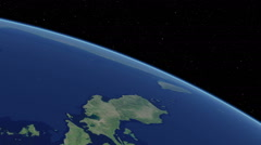 Orbital flyover of the Philippines (cloudless) - stock footage