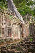 Preah Khan temple, Angkor area, Siem Reap, Cambodia - stock photo
