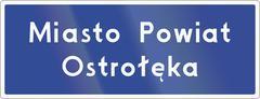 Municipality Border Sign In Poland - stock illustration