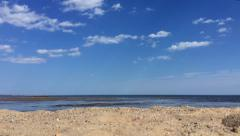 Beach Cloud Timelapse - stock footage