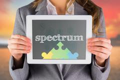Spectrum against blue medical interface with icons - stock photo