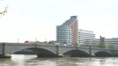 Putney Bridge, London, River Thames Timelapse 02 Stock Footage