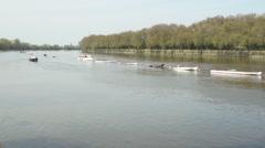 London, River Thames, Putney Timelapse Stock Footage