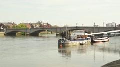 Putney Bridge, London, River Thames Timelapse 03 Stock Footage