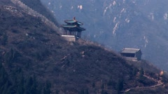 The Great Wall of China Mountains Stock Footage