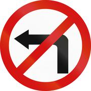 Stock Illustration of No Left Turn in Poland